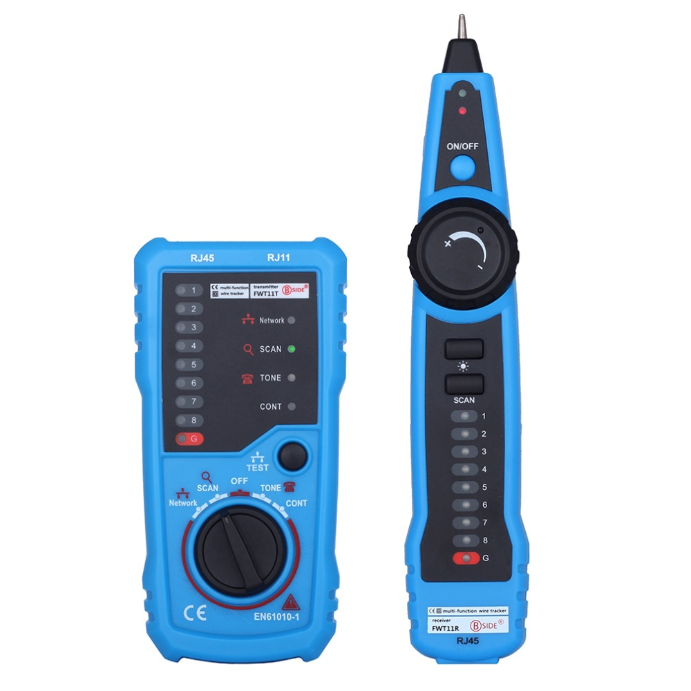 (Ship From RU) RJ11 RJ45 Cat5 Cat6 Telephone Wire Tracker Tester Detector Line Finder Tracer Toner Ethernet LAN Network Cable