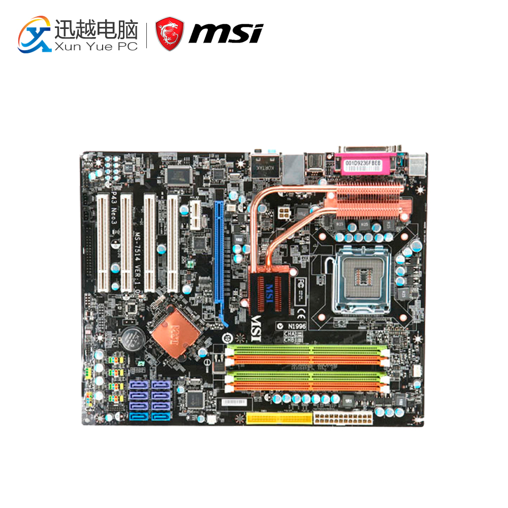 MSI P43 NEO3-F Desktop Motherboard P43 Socket LGA 775 DDR2 16G SATA2 USB2.0 ATX стоимость