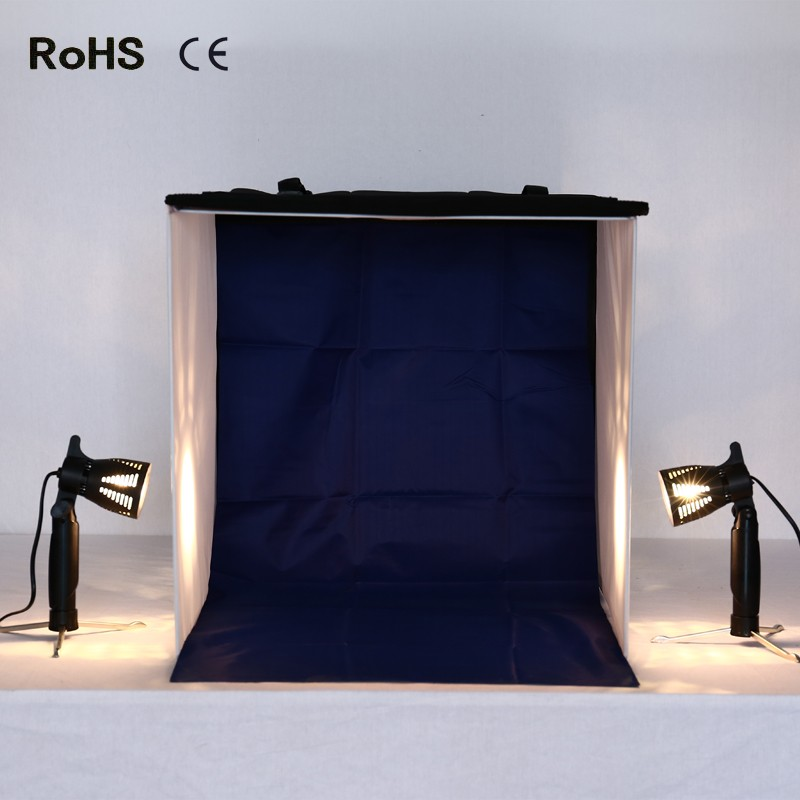 50cm*50cm/20inch*20inch Table Top Photo Photography Studio Lighting Light Tent Kit in a Box(4 backdrops) with 2*50w Lamps