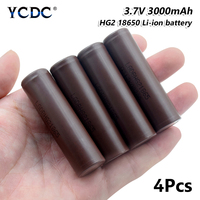 high capacity hg2 18650 battery 3000mah 3.7v rechargeable li ion cell 4pcs for Laser Pen LED Flash light Cell battery holder