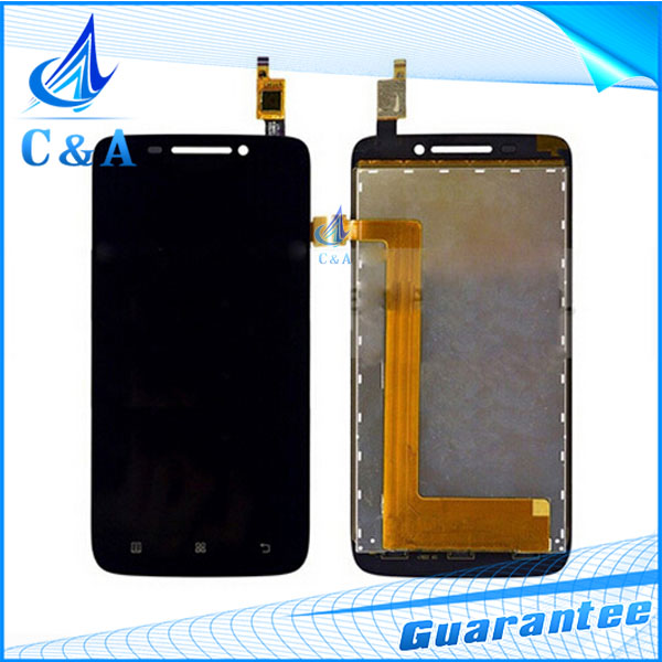 1 piece tested black free shipping replacement repair part 4.7 inch screen for Lenovo S650 lcd display with touch digitizer