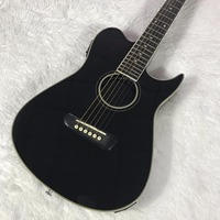 Black Classical Solid Wood Electric Guitar, Classical Piano Bridge, Rose Wood Finger Plate, Ancient String Button Electric Guita