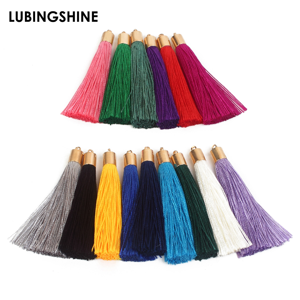 10pcs/lot Mixed Cotton Silk Tassel For Earrings Charm Pendant Satin Tassel DIY Jewelry Making Findings Material Decoration 2019