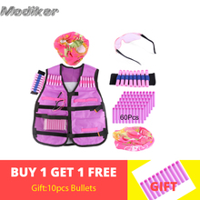 Women Tactical Protective Bandolier for Nerf N-strike Elite Series Soft Bullet Wristband 10 Bullets Scarf Mask  +Goggles