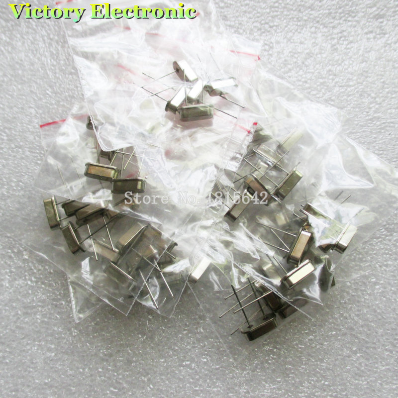 Электронный резонатор, Кварцевый резонатор, 7 видов X 5 шт., 32,768 K, 4, 8, 12, 16, 20, 25 МГц