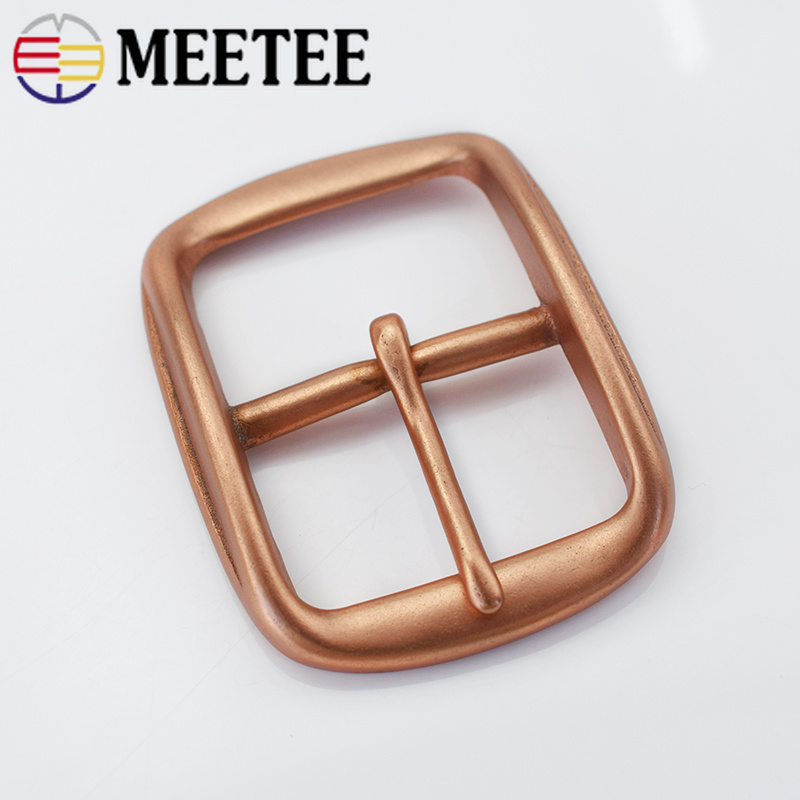 Deepeel Solid Copper Belt Buckles Men Boucle De Ceinture Metal Pin Buckle For Belt 38-39mm DIY Hebillas Cinturones Hombre KY956