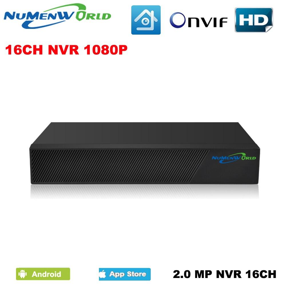 Numenworld NOUVEAU Full HD 1080 P 16 canaux NVR CCTV 16CH système NVR Pour Caméra IP ONVIF H.264 HDMI Réseau Vidéo enregistreur