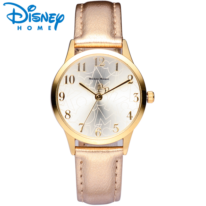Disney Women Watches Luxury Leather Mickey Mouse Casual&Fashion Brand 2017 Dress Quartz Wristwatches Women Ladies Watch Genuine original disney brands girl pretty mickey mouse cartoon lovely watch best fashion casual simple quartz round leather watches