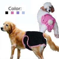 ABBY Cute Dog Diaper Panties Puppy Physiological Shorts Animal Designs Pink Coffee Yellow S M L