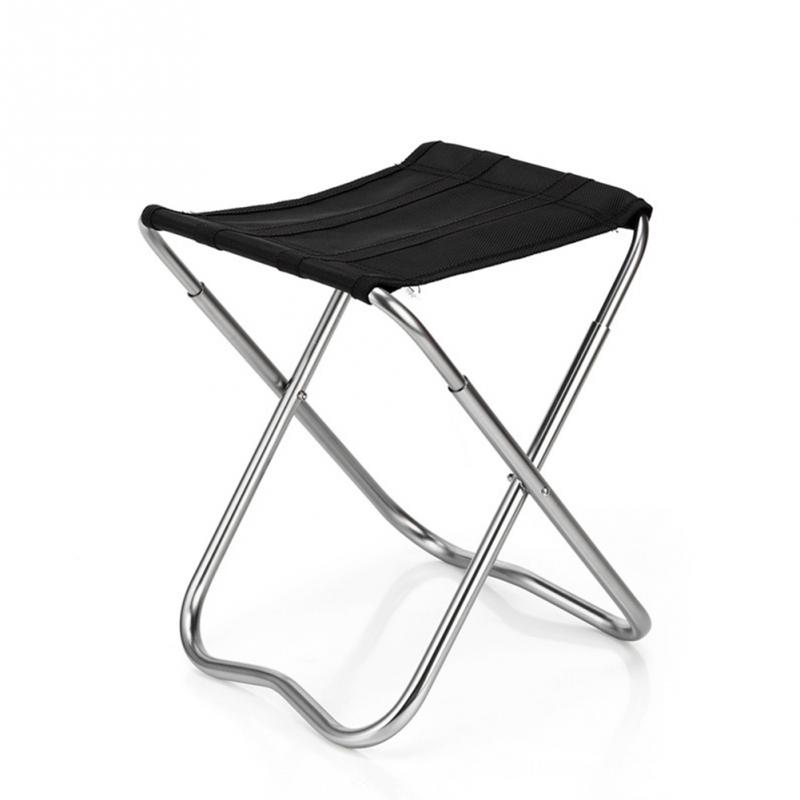 Aluminium Alloy Stool Folding Chair Outdoor Park Garden Chair