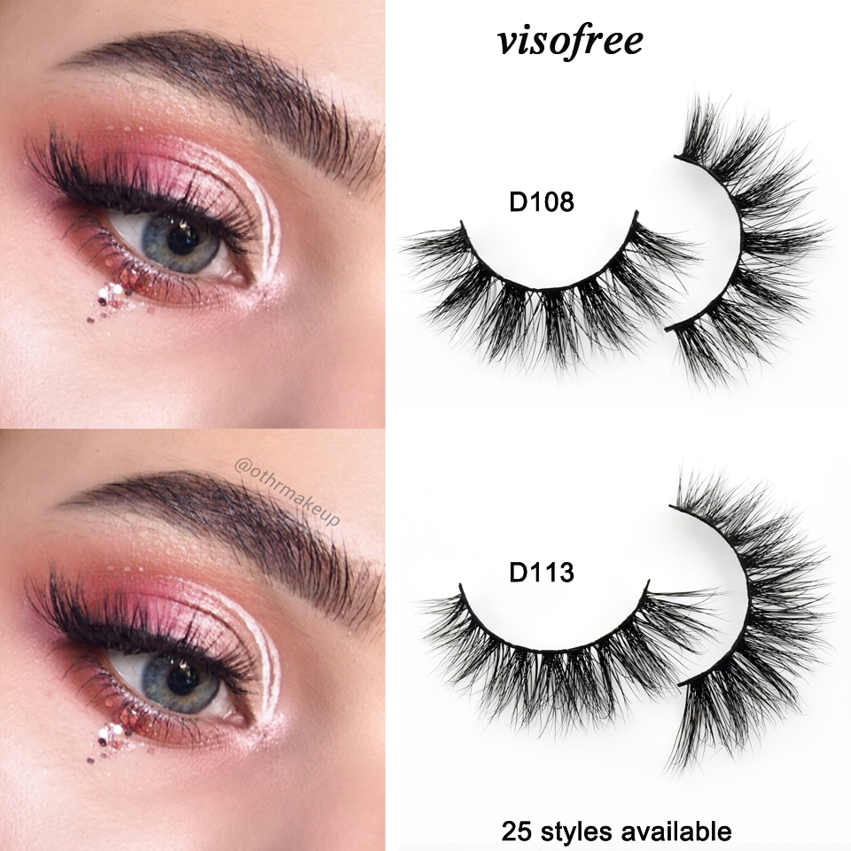 de87086c03a Visofree Eyelashes 3D Mink Lashes Handmade Full Strip Lashes Cruelty Free  Luxury Mink Eyelashes Makeup Lash maquiagem faux cils-in False Eyelashes  from ...
