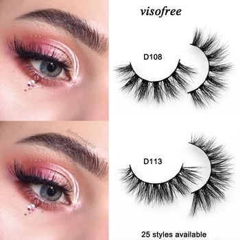 Visofree Eyelashes 3D Mink Lashes Handmade Full Strip Lashes Cruelty Free Luxury Mink Eyelashes Makeup Lash maquiagem faux cils