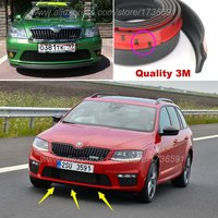 Bumper Lip Deflector Lips For Skoda Octavia A2 A5 A7 Laura Fabia Rapid Superb Yeti Roomster Front Spoiler Skirt Body Kit Strip