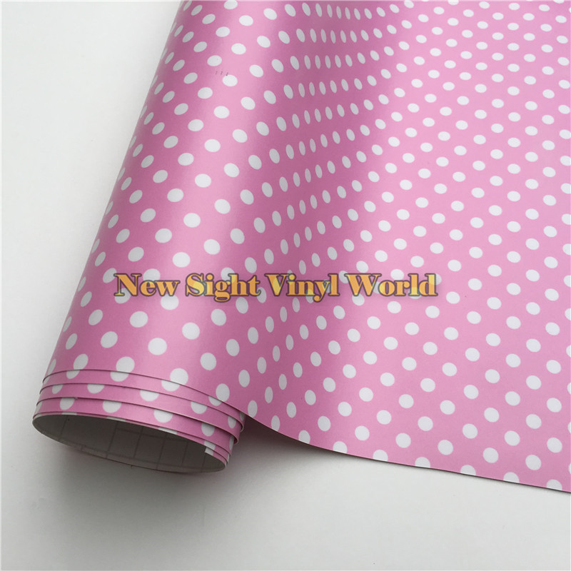 Polka Dot Camouflage Vinyl Film Camo Wrap Bubble Free For Computer Laptop Cover Size:1.50*20m/Roll