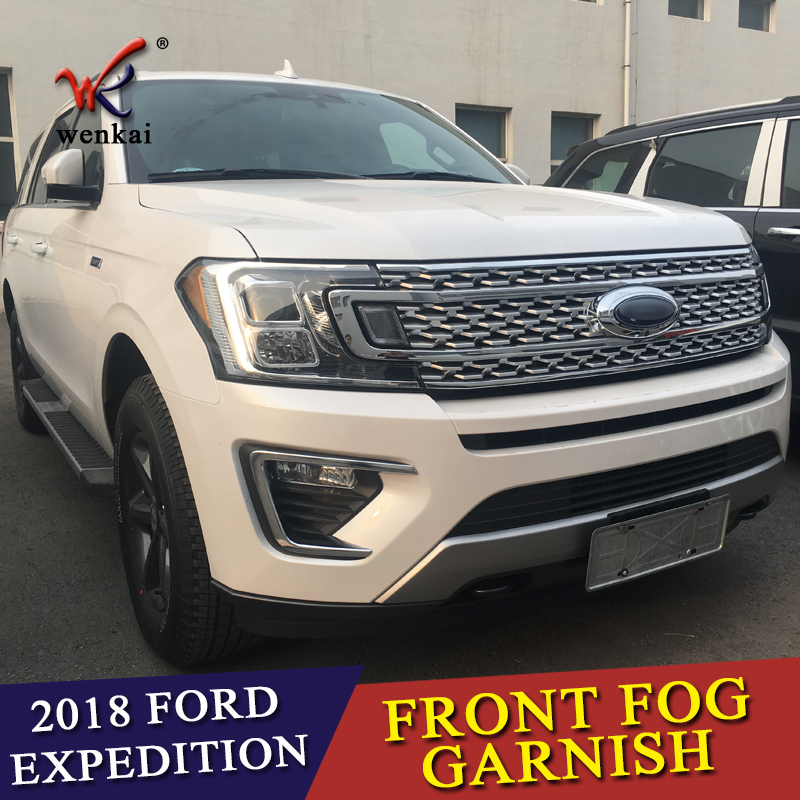 US $68 7 20% OFF Fit For Ford Expedition 2018 2019 ABS Chrome Front Fog  Light Lamp Cover Trim Chromium Foglight Bezel Styling Decoration 2Pcs-in