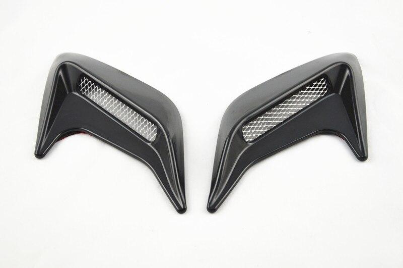 Бесплатная доставка автомобиля наклейку 2x авто боковое вентиляционное отверстие поток воздуха крыло Потребление стикер черный Универсальный декоративные
