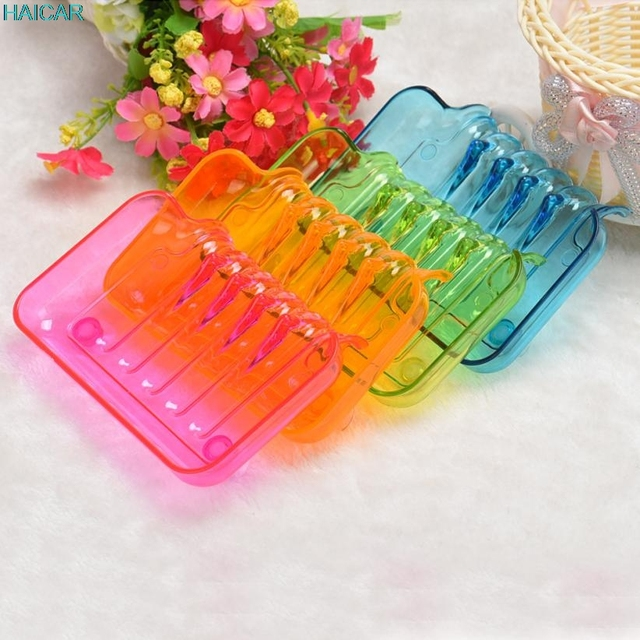 1PC Bathroom Shower Soap Box Dish Storage Plate Tray Holder Case Suction Wall  Mounted Type Levert