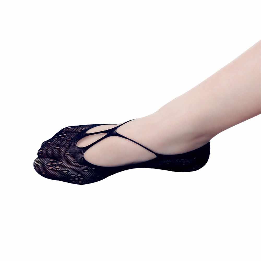 2020 yeni moda kadın seksi baskı Hollow Out tekne çorap kadın görünmez düşük ayak bileği çorap kadın çorap seksi rahat mujer A8