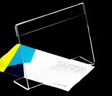 50mm*70mm Table Tablet desktop label holder Stands acrylic clear price label holder label tag frame 20 pcs