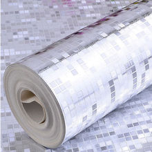 Q QIHANG Modern Luxury Silver Foil Mini Mosaic Background Flicker Wallpaper 0.53m*10m=5.3m2