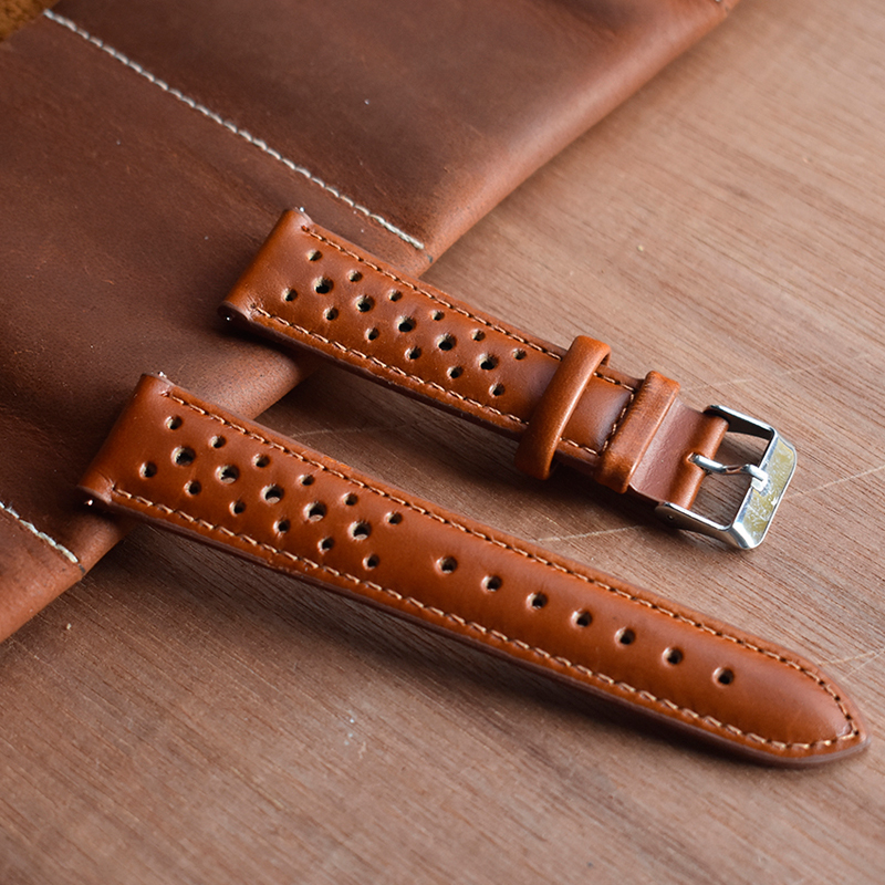Onthelevel Genuine leather porous strap 18mm 20mm 22mm unisex replacement wristband comfortable breathable quick release