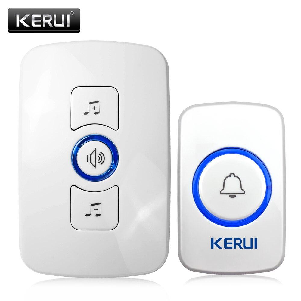 imágenes para Kerui timbre inalámbrico inteligente receptor home puerta timbre seguridad para el hogar sistema de alarma sistema de seguridad 433 mhz