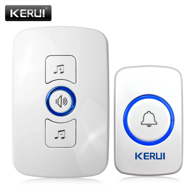 M525 KERUI Wireless Doorbell Smart Receiver Home Gate Security Doorbell Home Alarm System Security System 433MHz