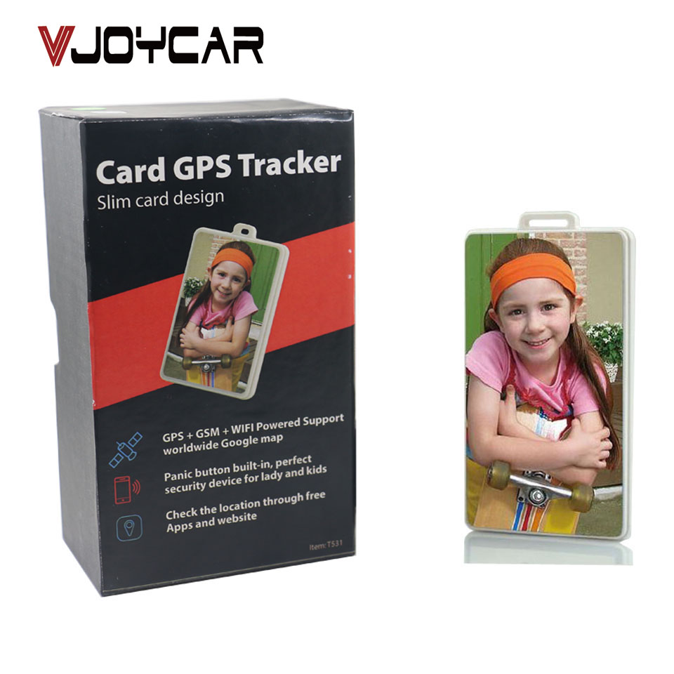 ФОТО VJOYCAR ID Card Mini GPS Tracker For Kids Children Elder SOS GPRS GSM SMS Locator FREE Tracking Device Software