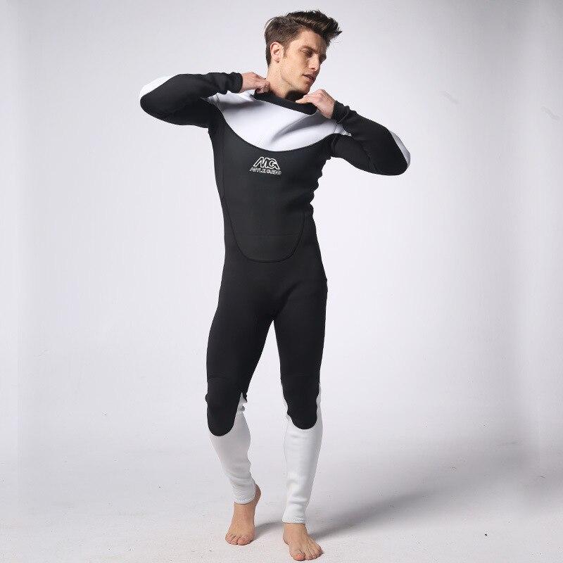 3mm néoprène hommes plongée sous-marine cerf-volant surf nautisme plongée en apnée lance pêche planche à voile combinaison maillots de bain Netz - 5