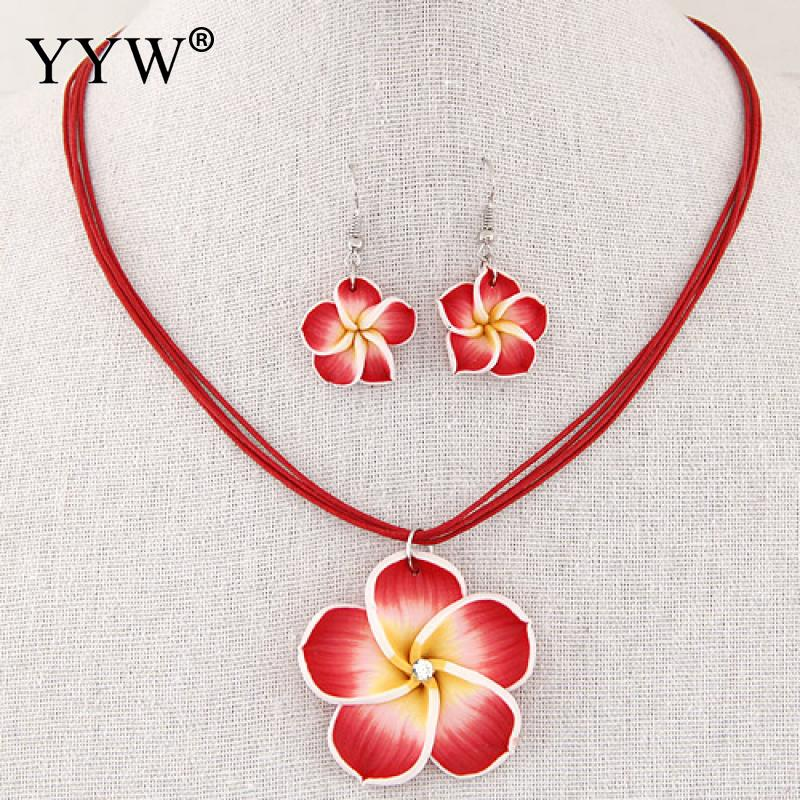Wholesale Polymer Clay Jewelry Set Children Girl S Flower Necklace