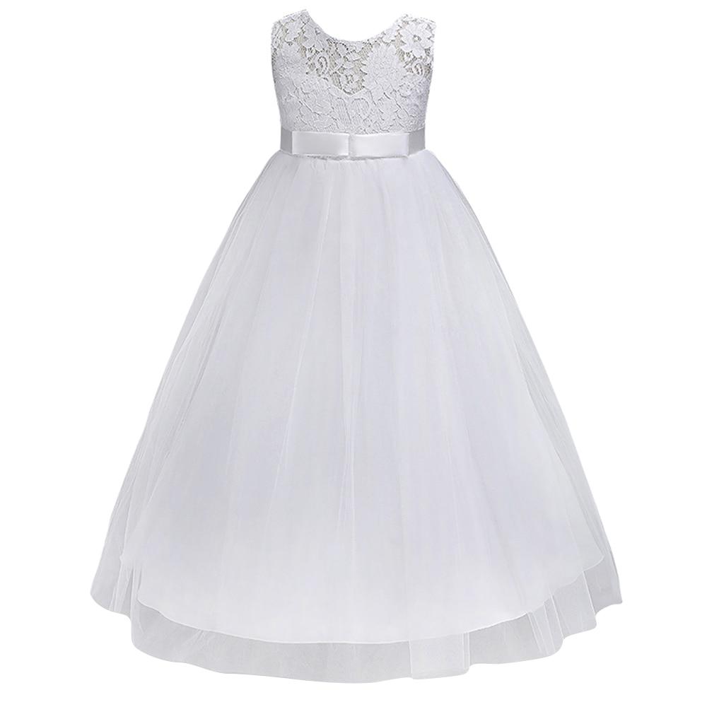 Navy Blue Petites Filles Robes Princess Lace Flower Girl Dresses