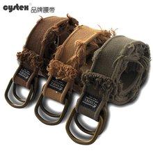 Marke Neue Verkäufe Designer Gürtel Männer Hohe Qualität Gürtel Herren Gürtel Casual D-ring Leinwand 100% Baumwolle Vintage-Mode gewaschen Weichen