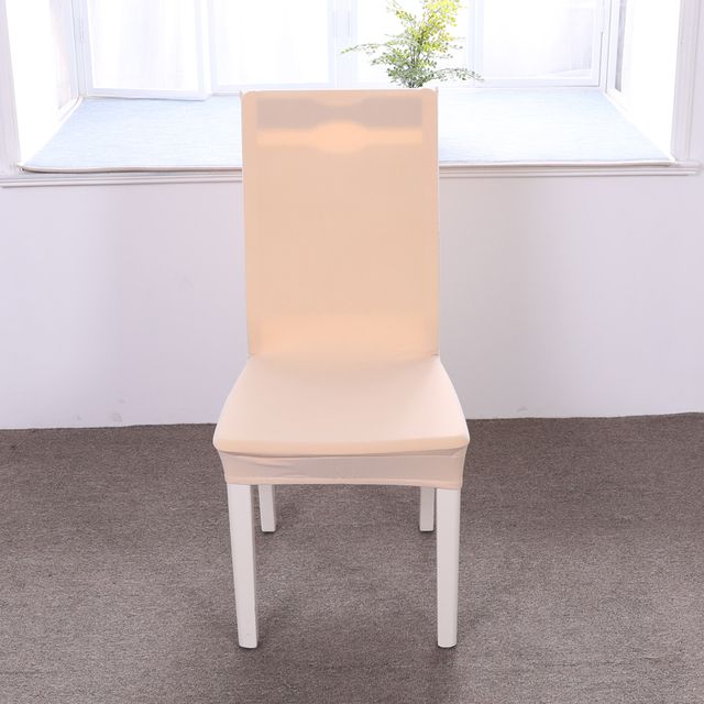stretch dining chair covers with arms uk beige color spandex cover elastic slipcovers restaurant seat for wedding hotel banquet