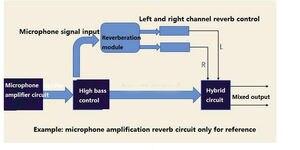 Image 4 - 0 99 100 kinds of effect DSP digital reverberation module Cara OK board mixer