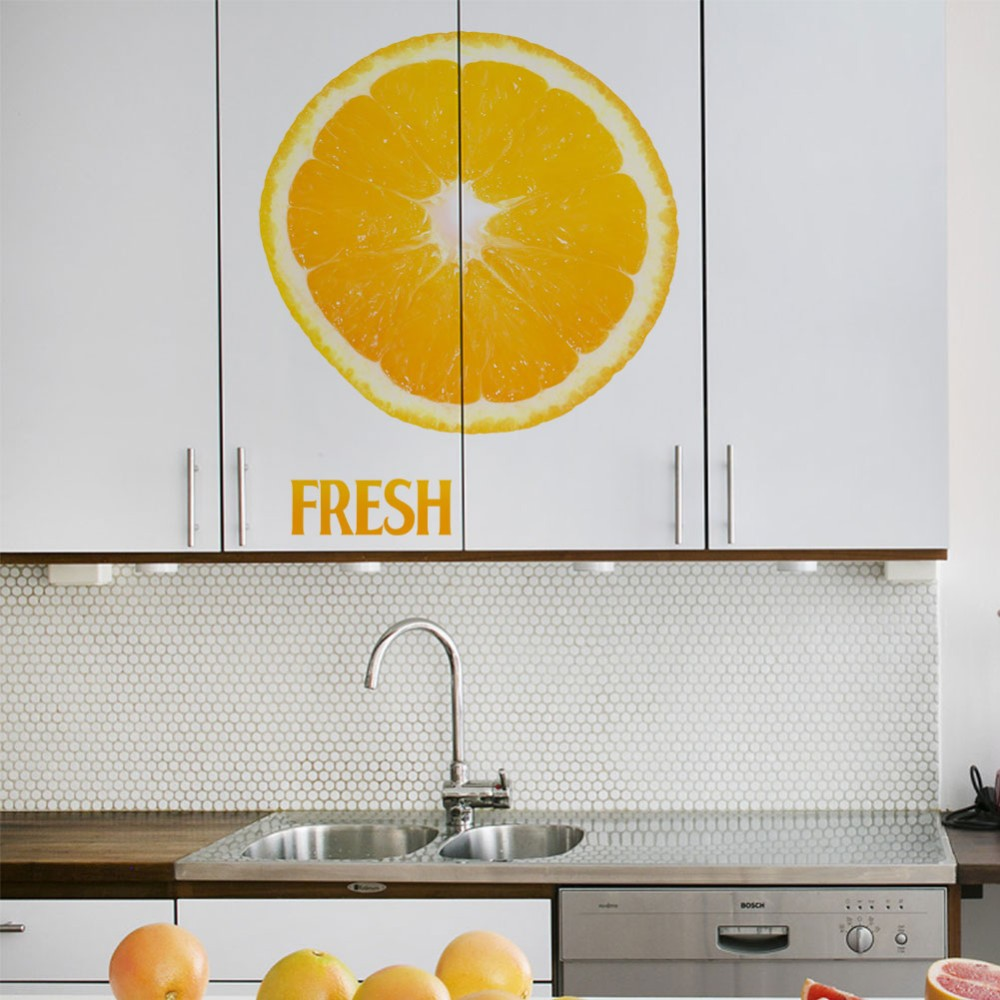 Creative FRESH orange lemon kitchen living room door decor bedroom ...