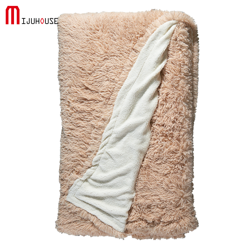 Super Soft Long Shaggy Bedspreads Fuzzy Fur Solid Color Elegant Cozy With Fluffy Sherpa Throw Sofa Blanket Bed Sofa Blanket Gift