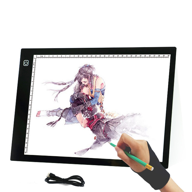 Hot Selling LED Copy Table Light Station Through USB Writing Desk A4 Copy Board Anime Board Painting Board Drawing Beauty Tools gemei gm 7003