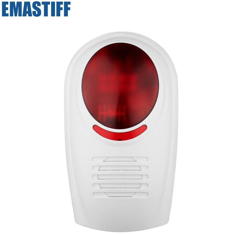 imágenes para 315 mhz/433 mhz Inalámbrico sensor sirena de Alarma de trabajo para wireless home sistema de alarma de seguridad + Envío Libre