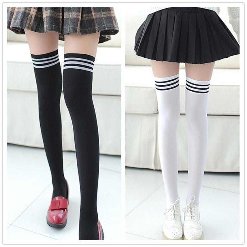 New Socks Fashion Stockings Casual Cotton Thigh High Over Knee Acrylic High Socks Girls Womens Female Long Knee Sock носки