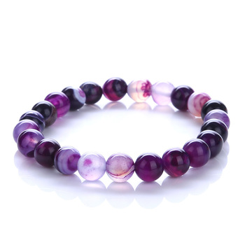 Purple Bracelet Natural Stone