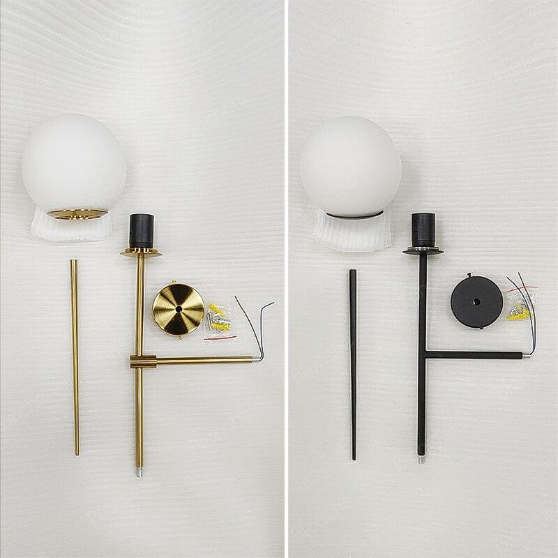 Pós linha moderna lâmpada de parede minimalismo