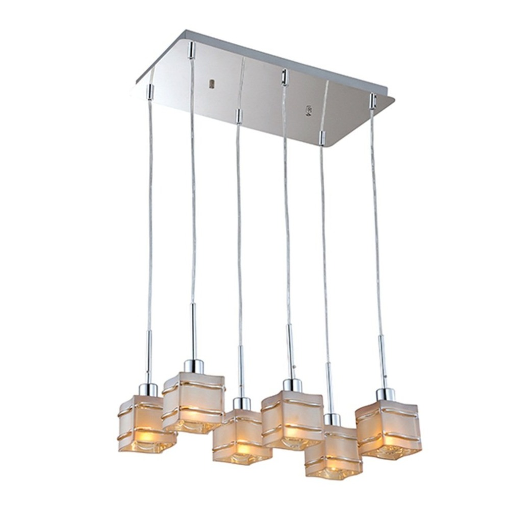 (Ship From DE)6 Way Cognac Glass Ceiling Pendant Wall Light Shape Lamp Chandelier Fitting for Light