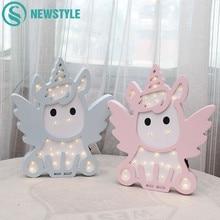 Adorable unicornio búho nube árbol LED 3D luz de noche lindo niños regalo juguete bebé niños dormitorio decoración lámpara iluminación interior