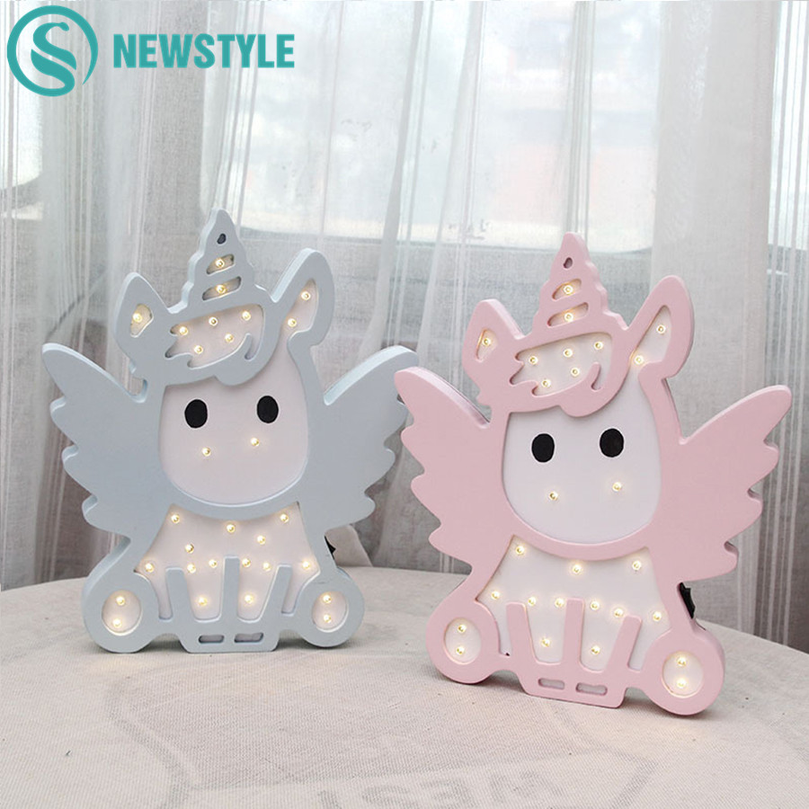 Lovely Unicorn Owl Cloud Tree LED 3D Light Night Light Cute Kids Gift Toy Baby Children Bedroom Decoration Lamp Indoor Lighting image