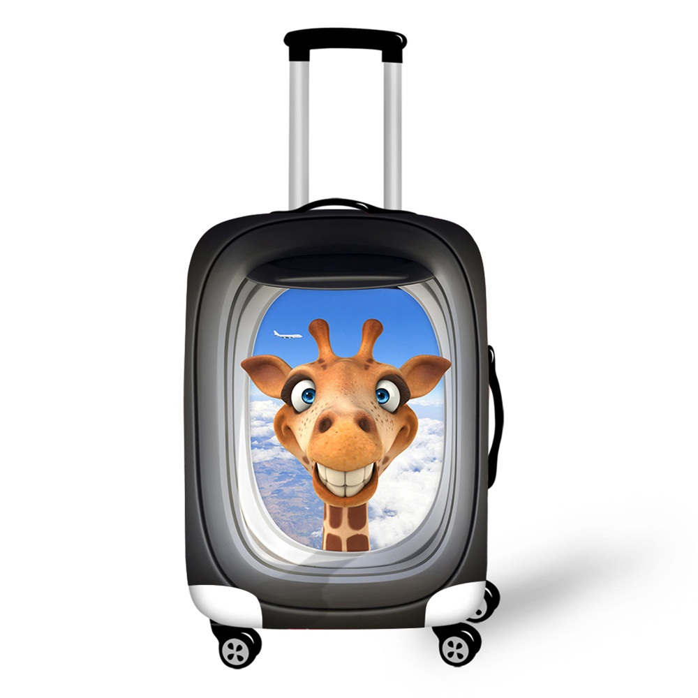 Elastic Luggage Cover Apply to 18-30 Suitcase Cover Thick Giraffe Pattern waterproof Travel Accessories Anti-scratch ...