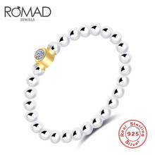 ROXI ROMAD Brand 925 Sterling Sliver Rings For Women Crystal Beads Finger Ring Luxury Wedding Bridal Engagement Jewelry Gift