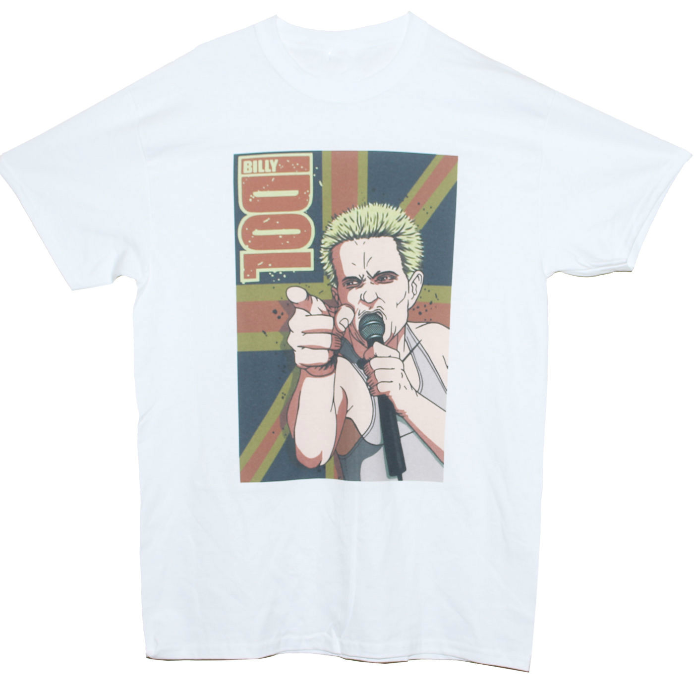 BILLY IDOL T SHIRT Punk Generation X Pil Graphic Music Band Printed Tee Men/Wome Mens Hipster Short Sleeve Tee Tops