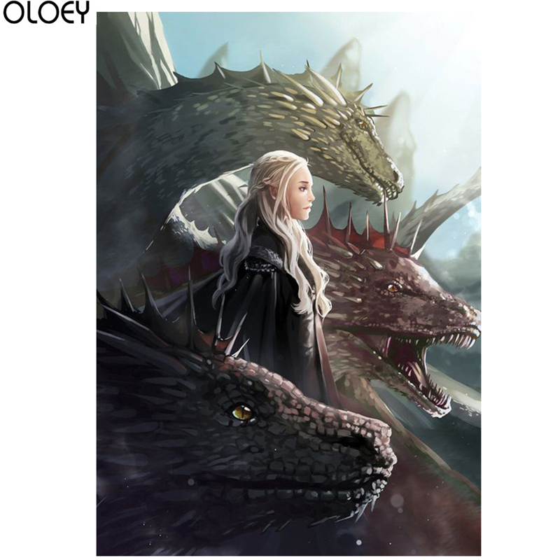 Full Square Drill  Game Of Thrones Diamond Painting 5D DIY Embroidery Special Diamond Accessories Cross Stitch Wall Decor
