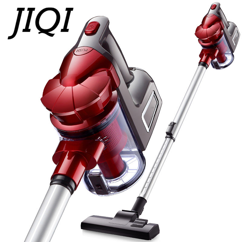 JIQI 2 In1 Handheld Vacuum Cleaner Portable Push Rod Dust Collector Carpet Bed Mite Catcher Car Home Use Aspirator Floor Sweeper