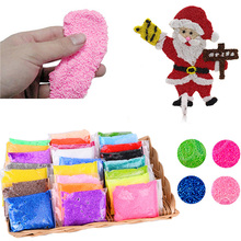 20g Floam Slime Fluffy Toys Color Snow Mud Modeling Clay Kids Children Adults Antistress Toy Clear